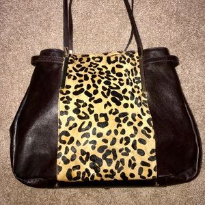 💙❤️VINTAGE💙XL❤️LEOPARD PRINT SHOULDER BAG💙❤️